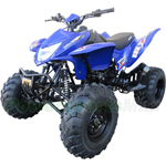 "RPS Tornado 250cc Sport Utility ATV with 5-speed Manual Clutch w/Reverse, Big 23""/22"" Tires!"