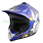 PMX Youth Motocross Off-Road Helmet - Blue Free Shipping!