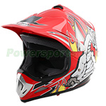 PMX Youth Motocross Off-Road Helmet - Red Free Shipping!