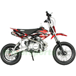 SSR-125A1 125cc Pit Bike with Manual Transmission, A-Type Aluminum Swing Arm, Kick Start!