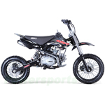 "SSR 2016 SR125 125cc Pit Bike with 4-Speed Manual Transmission, Kick Start! Hydraulic Brakes! 14""/12"" Wheels!"