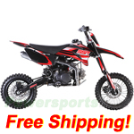 SSR-125TR Pit Bike with Manual Transmission, Inverted Forks, Mikuni Carburetor!Free Shipping!