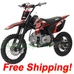 SSR-110TR 110cc Pit Bike with 4 Speed Semi-Auto Transmission,Kick Start!Free Shipping!