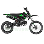 "DB-G001 DB-007 Apollo 125cc Dirt Bike with 4 Gears Manual Transmission, Double Spare Frame! Kick Start, Big 17""/14"" Tires!"