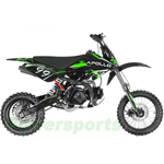 "DB-G002 APOLLO 125cc Dirt Bike with 4-Speed Manual Transmission, Twin Spare Frame! Kick Start, Big 14""/12"" Tires!"
