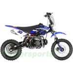"DB-G005 APOLLO 125cc Dirt Bike with 4-Speed Manual Transmission, High Strength Steel! Kick Start, Big 14""/12"" Tires!"