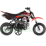 "DB-G007 Apollo DB-25 70cc Dirt Bike with Automatic Transmission, 10"" Wheels! Electric Start! with Free Training Wheels!"