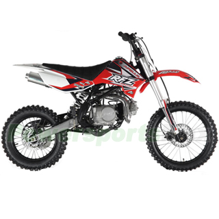 db g009 apollo db x18 125cc dirt bike with 4 speed manual transmission double spare frame kick start big 1714 tires - Dirt Bike Frame