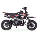 DB-T004 110cc Dirt Bike with Automatic Transmission, Electric Start, Front Hydraulic Disc Brake! Chain Drive!
