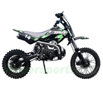 "DB-T005 110cc Dirt Bike with Semi-Automatic Transmission, Kick start, Hydraulic Disc Brake! Chain Drive! 14""/12"" Wheels!"