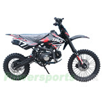 "DB-T006 125cc Dirt Bike with 4-speed Manual Transmission, Kick start, Hydraulic Disc Brake! Big 17""/14"" Wheels!"