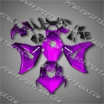 Fit CBR1000RR 08-11 Purple Black ABS Fairing 18N32