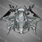 Injection Molded Fit CBR1000RR 06 07 Black Flames Fairing ZN553, Free Shipping!