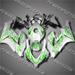 Injection Molded Fit CBR1000RR 04 05 Green Flames Fairing 14N07