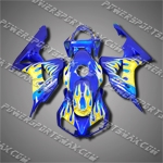 Injection Molded Fit CBR1000RR 06 07 Yellow Flames Fairing 16N53