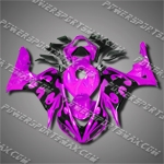 Injection Molded Fit CBR1000RR 06 07 Flames Purple Fairing 16N32
