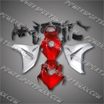 Fit CBR1000RR 08-11 Red Silver ABS Fairing 258A