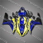 Injection Molded Fit CBR1000RR 06 07 Yellow Blue Fairing 16N29, Free Shipping!
