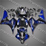 CBR600RR 07 08 Blue Flames Fairing 67N04, Free Shipping!