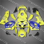Injection Molded Fit CBR600RR 03 04 Yellow CAMEL Fairing ZN665, Free Shipping!