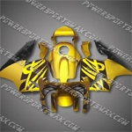 Injection Molded Fit CBR600RR 03 04 Gold Black Fairing ZN231, Free Shipping!