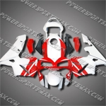 Injection Molded Fit CBR600RR 03 04 Red White Fairing 63N32