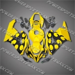 Injection Molded Fit CBR1000RR 04 05 Flames Yellow Fairing 14N29