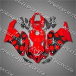Injection Molded Fit CBR1000RR 04 05 Flames Red Fairing 14N28