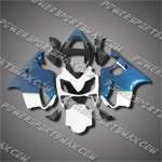 For CBR600F4i 01-03 Blue White ABS Fairing ZN1169