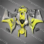 Injection Molded Fit CBR1000RR 06 07 Yellow Grey Fairing ZN765