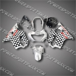 For CBR600F4 99 00 Silver Black ABS Fairing ZH738