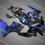 Injection Molded Fit CBR600RR 05 06 Blue Flames Fairing 65N03