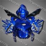 Injection Molded Fit CBR600RR 05 06 Flames Blue Fairing ZN832