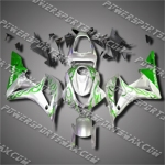 Injection Molded Fit CBR600RR 07 08 Green Flames Fairing ZH575
