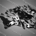 Injection Molded Fit CBR600RR 07 08 Flames Black Fairing 67N34