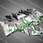 Injection Molded Fit CBR600RR 07 08 Green Flames Fairing 67N18