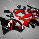 For CBR954RR 02 03 Red Black ABS Fairing 95N26
