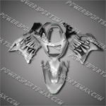 Fit CBR1100XX Blackbird 96-07 Black Flames Fairing ZN593