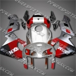 Injection Molded Fit CBR600RR 05 06 Silver Red Fairing ZN233, Free Shipping!