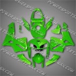 Injection Molded Fit CBR600RR 05 06 All Green Fairing ZN129, Free Shipping!