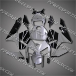 Injection Molded Fit CBR600RR 05 06 Silver Black Fairing ZN1064