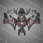 Injection Molded Fit CBR600RR 07 08 Flames Flat Black Fairing ZN692