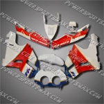 For VFR400 R NC30 89-93 Red White Fairing ZN1098-handcraft