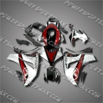 Fit CBR1000RR 08-11 Red Silver ABS Fairing ZN903