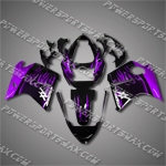 Fit CBR1100XX Blackbird 96-07 Purple Flames ABS Fairing 11N06