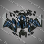 Injection Molded Fit CBR1000RR 04 05 Blue Flames Fairing ZN050