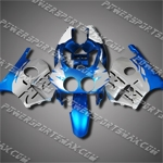 For CBR250RR MC22 90-99 Blue Silver Fairing 22N22