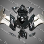 Injection Molded Fit CBR1000RR 04 05 Silver Black Fairing ZN959, Free Shipping!