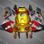 Injection Molded Fit CBR600RR 05 06 Gold Red Fairing ZN232, Free Shipping!