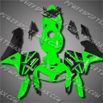 Injection Molded Fit CBR600RR 05 06 Green Black Fairing 65N27
